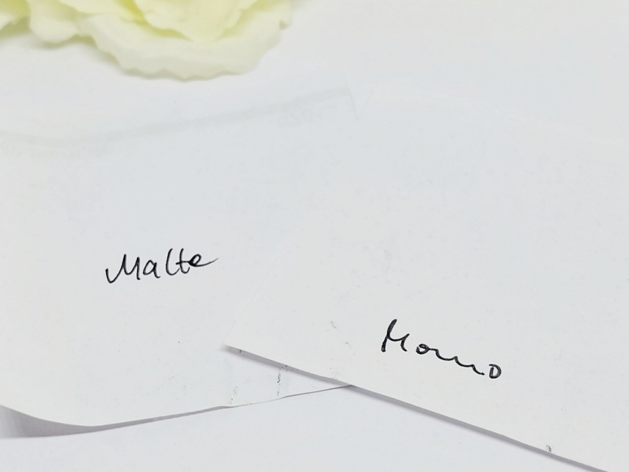 eigene Handschrift als Gravur Individuell